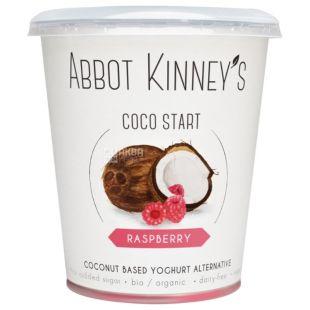 Abbot Kinney's, Йогурт кокосовый, органический, малина, 400 мл