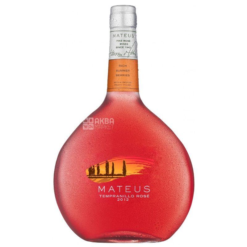 Mateus, Rose Tempranillo Sogrape Vinhos, Вино розовое полусладкое, 0,75 л