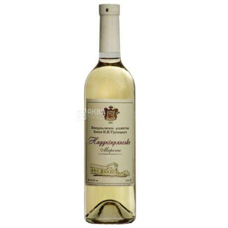 Вино белое сухое Надднепрянское, 0,75 л, ТМ Князя П.Н. Трубецкого