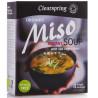 Clearspring, Смесь для приготовления супа Мисо с морскими водорослями, 4х10 г