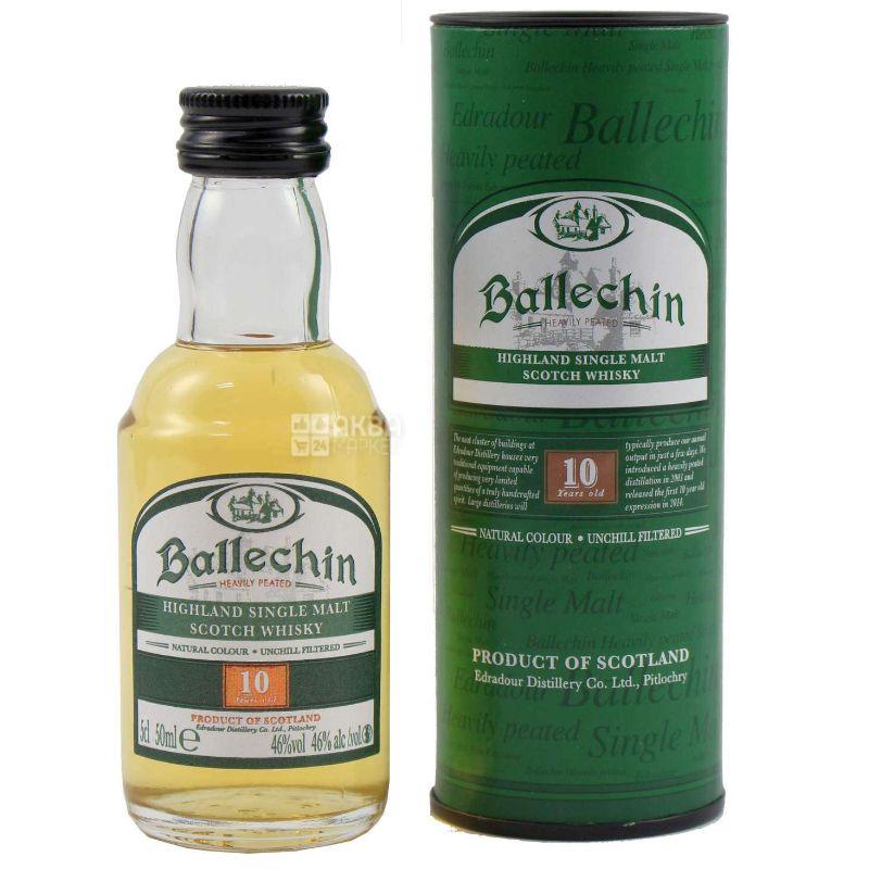 Ballechin, Виски шотландский, 10 лет выдержки, 0,5 л