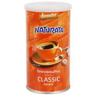Naturata, Getreidekaffee Classic Instant, Кавовий напій злаковий, органічний, тубус, 100 г