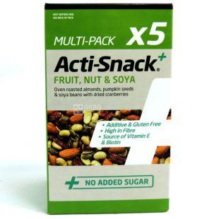 Acti-Snack, Суміш фруктів, горіхів та сої, 5х35г