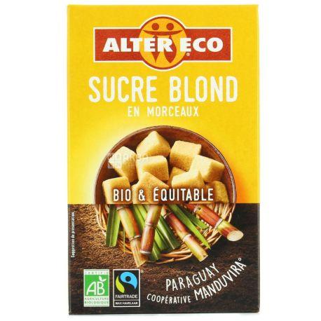 Alter Eco, 500 г, Кусковой сахар тростниковый, нерафинированный, коричневый
