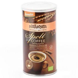 Naturata, Spelt coffee, 75 г, Натурата, Напиток, Спельта с цикорием, растворимый, органический, тубус