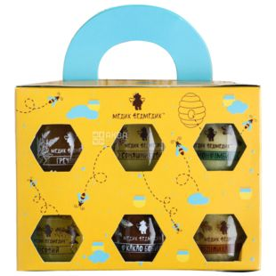 Medic-Bear, Gift set of honey assorted 6x50 g