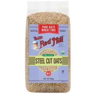 Bob's Red Mill, Steel cut oats, 680 г, Бобс Ред Мілл, Вівсяна крупа, органічна
