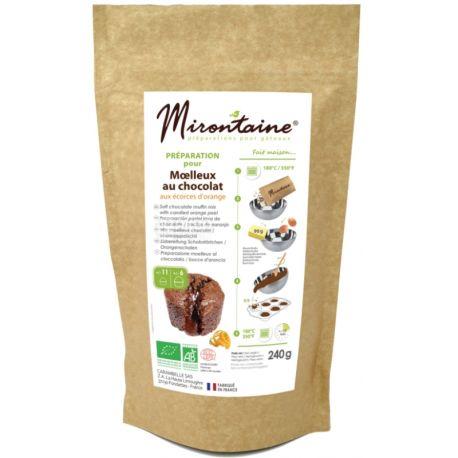 Mirontaine, Moelleux au Chocolat, 230 г, Суміш Міронтейн, для приготування шоколадних мафінів, органічна