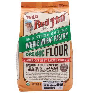 Bob's Red Mill, Мука кондитерская пшеничная, цельнозерновая, 1,361 кг