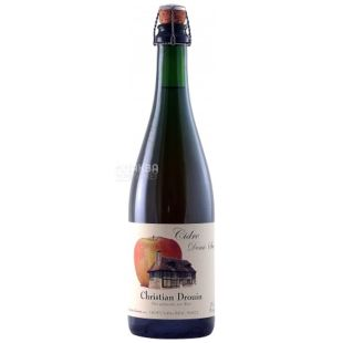 Christian Drouin, Apple Cider, Cidre Demi-Sec, 750 ml