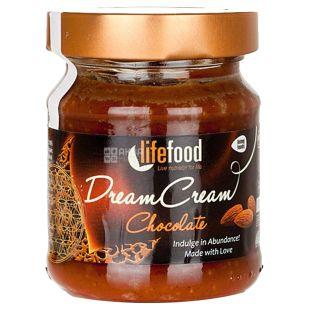 Lifefood, Крем-паста з сирого шоколаду з мигдалем органічна, 150 г