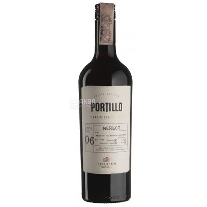 Portillo, Merlot, Вино красное сухое, 0,75 л