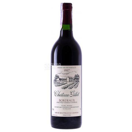 Chateau Gillet, Вино красное сухое, 0,75 л