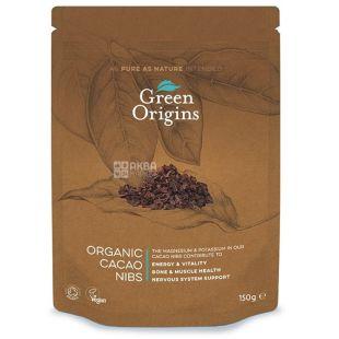 Green Origins, Chopped Organic Cocoa Beans, 150 g
