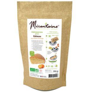 Mirontaine, Суміш для приготування апельсинових кексів органічна, 306 г