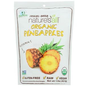 Natierra, Nature's All Sublimated Organic Pineapple, 42 g
