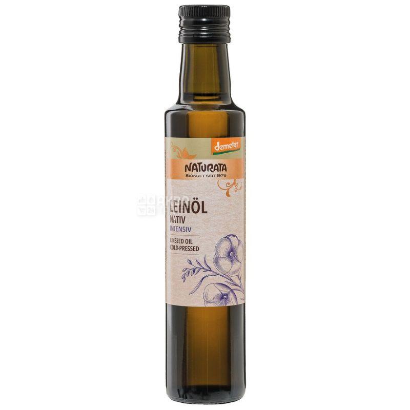 Naturata, Масло с семечек льна органическое, 0,25 л