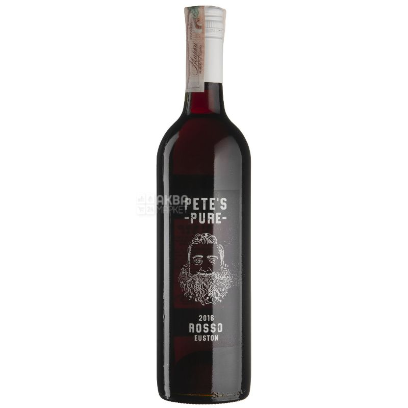 Pete's Pure Rosso, Вино червоне сухе, 0,75 л