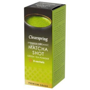 Clearspring, Matcha Shot, 8 шт х 1 г, Чай Кліаспрінг, Матча, зелений, органічний, в саше