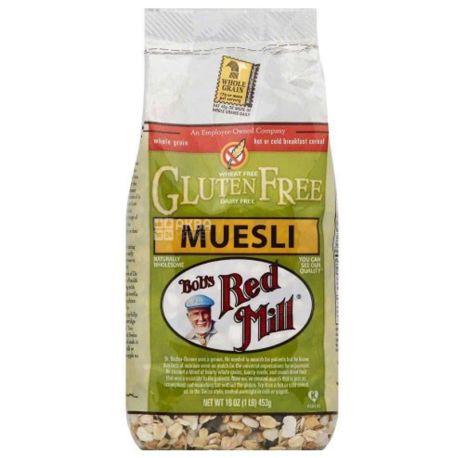 Bob's Red Mill, 453 г, Мюслі Бобс Ред Мілл, вівсяні, фрукти, горіхи, гарбузове насіння, сухий сніданок, швидкого приготування