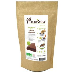 Mirontaine, Смесь для приготовления шоколадных кексов органическая, 295 г