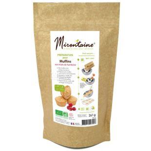 Mirontaine, Смесь для приготовления малиновых маффинов органическая, 261 г