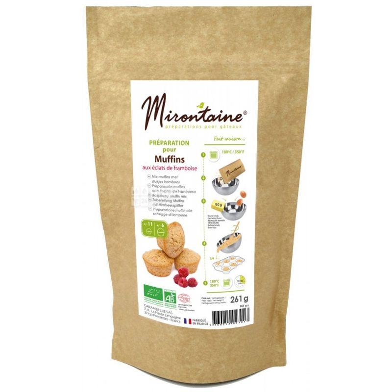 Mirontaine, Muffins, 0,261 кг, Смесь Миронтейн, для приготовления малиновых маффинов, органическая