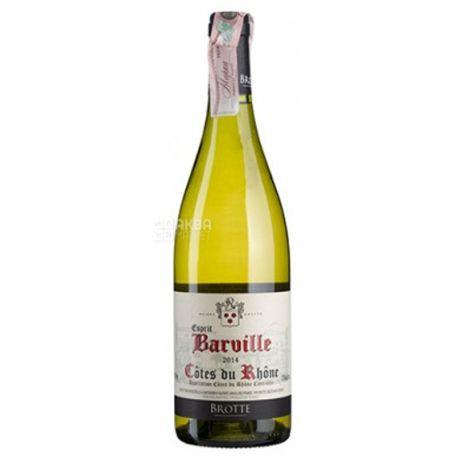 Cotes du Rhone Esprit Barville Blanc, Вино белое сухое 0,75 л