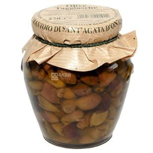 Frantoio di Sant'agata, Olives Tojaska pitted in extra virgin oil 270g