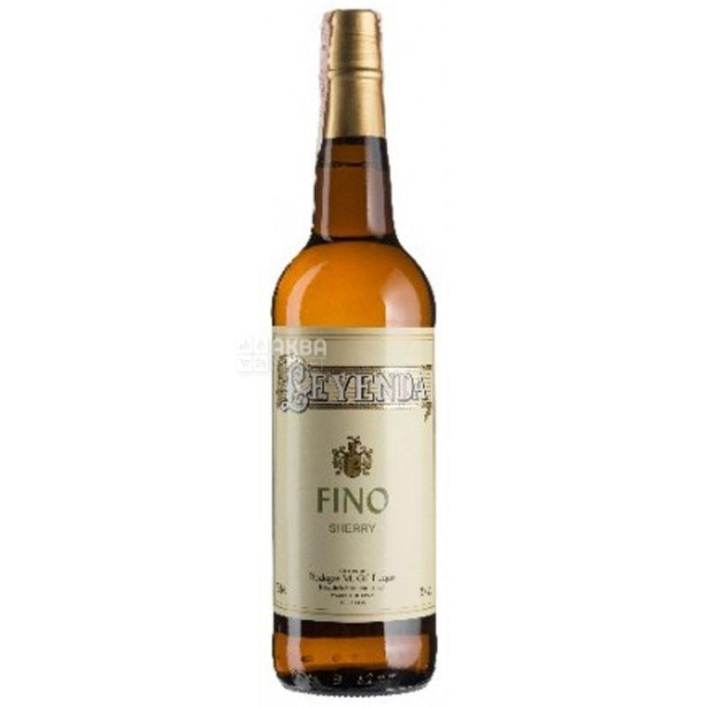 Valdespino, Leyenda Fino, Вино Херес сухой, 0,75 л