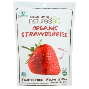 Natierra Natures All, Organic Sublimated Strawberry, 34 g