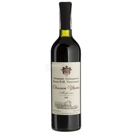 Князь Трубецкой, Оксамит Украины, Вино красное сухое, 0,75 л