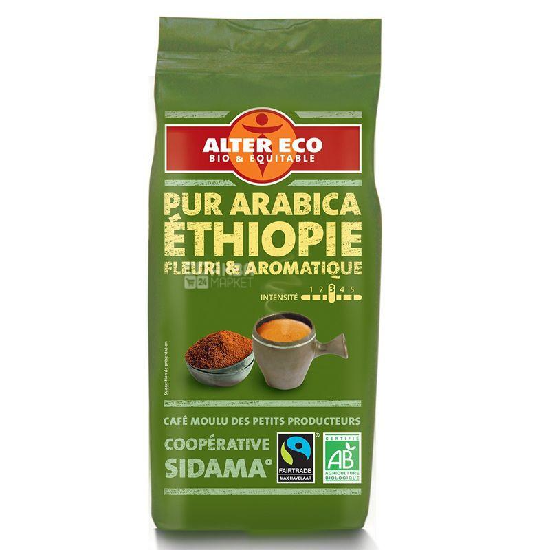 Alter Eco, Arabica Ethiopie, 260 г, Кава Альтер Еко, Ефіопія, мелена, органічна