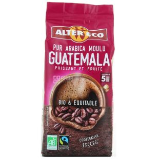 Alter Eco, Pur Arabica Guatemala, 260 г, Кава Альтер Еко, Гватемала, мелена, органічна