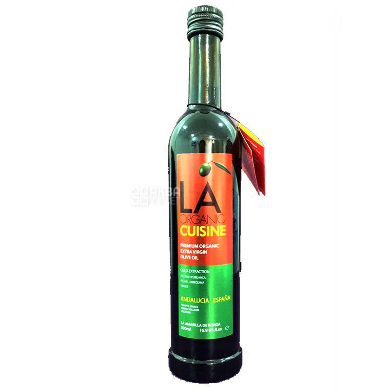 LA Organic Cuisine, Оливкова олія органічна, 0,5 л