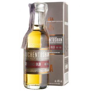 Auchentoshan, Single Malt Whiskey, 12 years old, 0.05 L