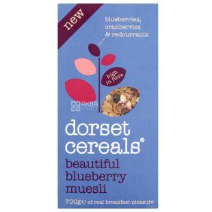 Dorset Cereals, 700 г, Мюслі Дорсет Сереалс, суміш злаків, з чорницею, сухий сніданок, швидкого приготування
