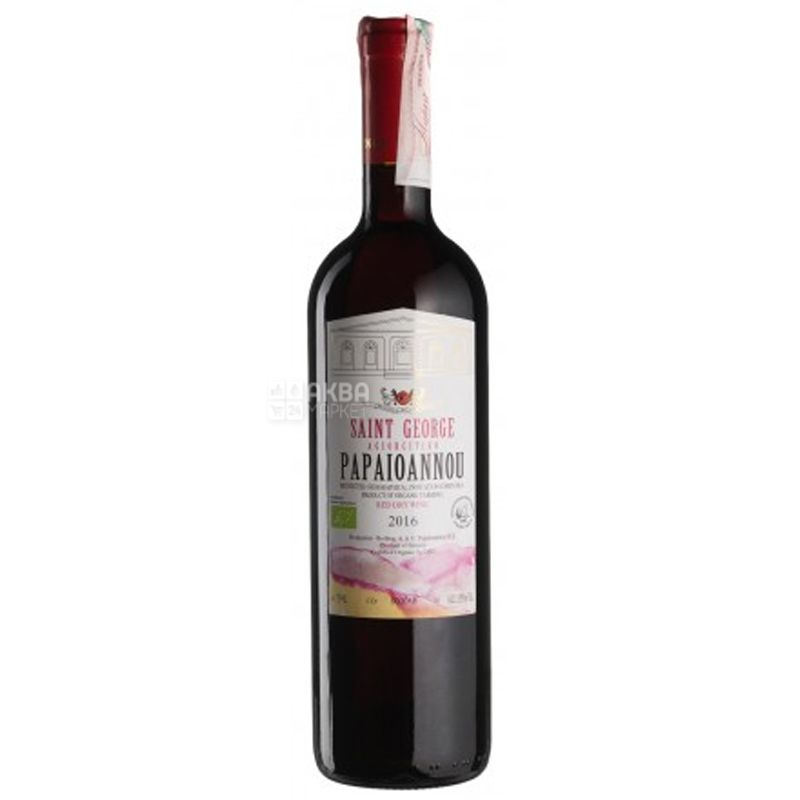 Saint George Agiorgitiko, Estate Papaioannou, dry red wine, 0.75 l