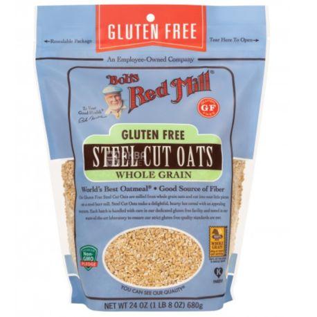 Bob's Red Mill, Steel cut oats, 680 г, Бобс Ред Милл, Крупа овсяная, органическая