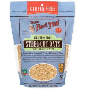 Bob's Red Mill, Steel cut oats, 680 г, Бобс Ред Мілл, Крупа вівсяна, органічна