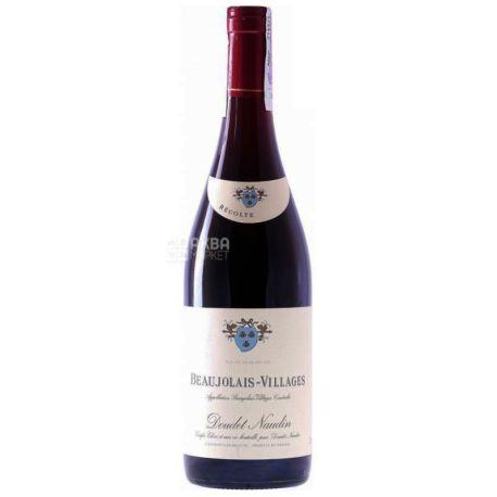 Beaujolais Villages, Doudet Naudin, Вино червоне сухе, 0,75 л