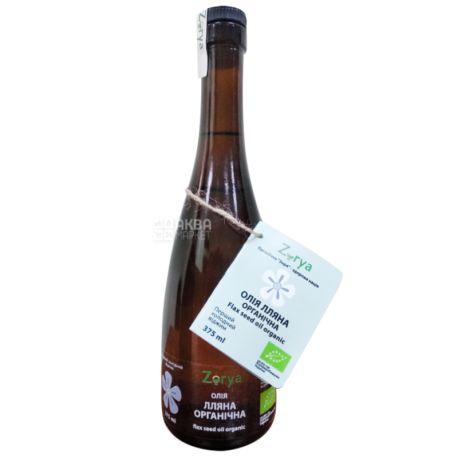 Zorya, Масло льняное органическая, 375 мл