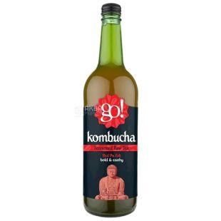 GO! Kombucha Pu Erh, 0,75 л, Чай Гоу Комбуча, холодный, Красный пуэр