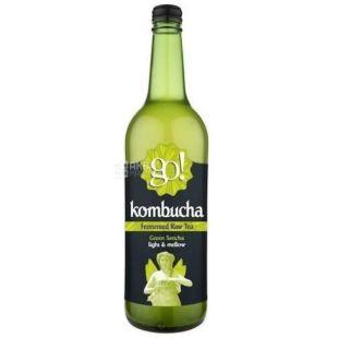 GO! Kombucha Green Sencha, 0,75 л, Чай Гоу Комбуча, холодний, Зелений Сенча