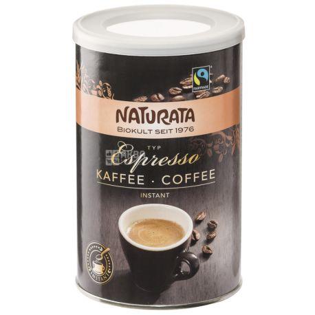Naturata, Espresso,100 г, Кофе Натурата, Эспрессо, растворимый, органический, тубус