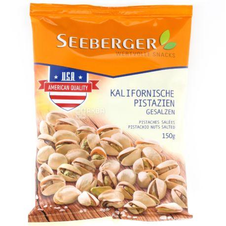 Seeberger, Фісташки каліфорнійські, смажені і підсолені, 150 г
