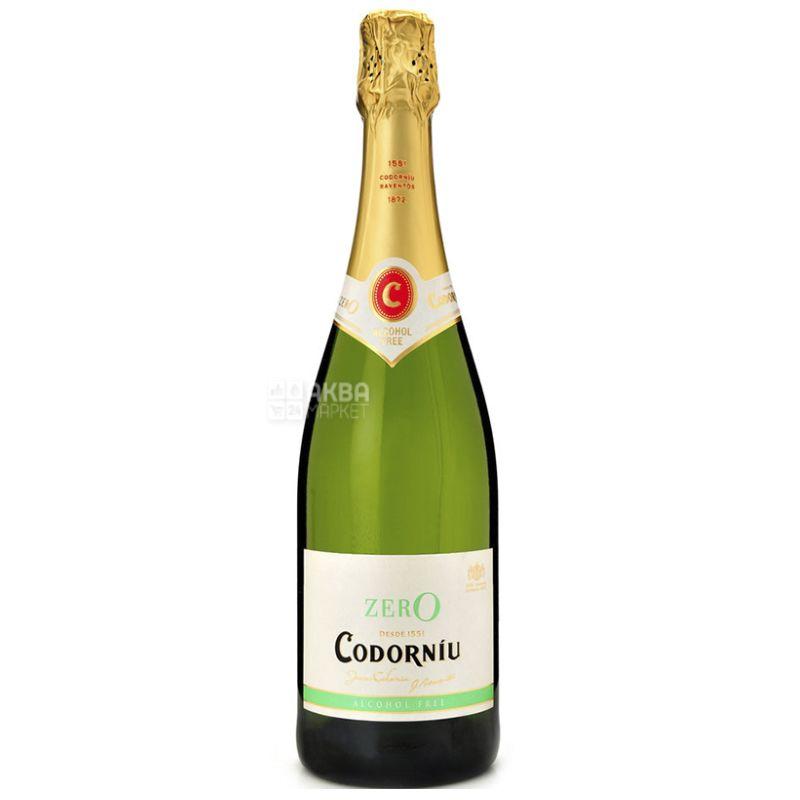 Codorniu, Zero, Вино игристое белое сухое, 0,75 л