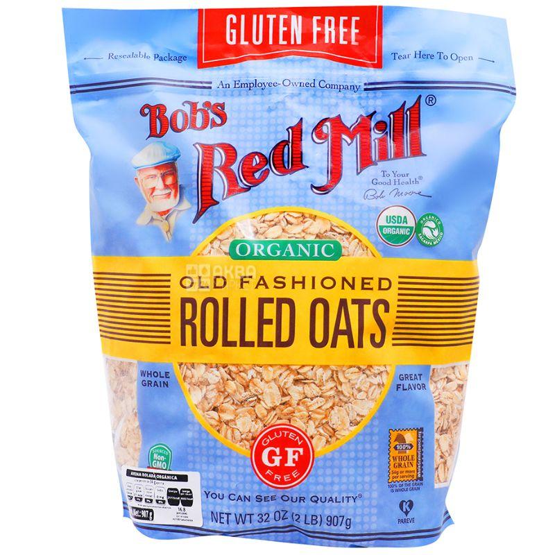 Bob's Red Mill, 907 г, Хлопья Бобс Ред Мил, овсяные, органические, без глютена