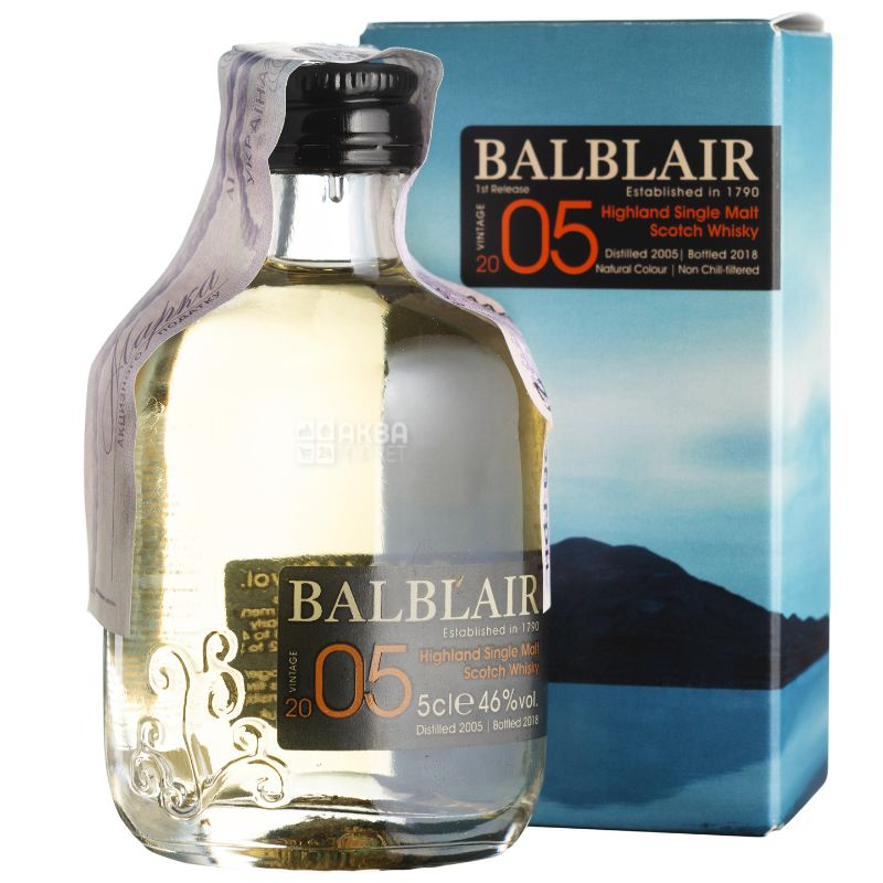 Balblair, Whiskey, Miniature, 2005, 50 ml