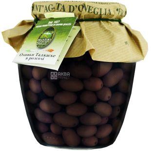 Frantoio di Sant'agata, Taggiascha Olives in brine, 650 g